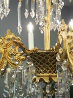 Edwardian Gilded and Glass Chandelier (10 of 13)
