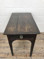 Antique Georgian Oak Side Table with Drawer (8 of 13)