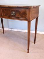 Antique Georgian Style Mahogany Two Drawer Side Table (6 of 7)