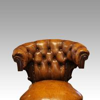 Victorian Leather Revolving Desk Chair (7 of 8)