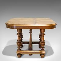Large Antique Extending Dining Table, French, Walnut, Seats 4-10 c.1900 (8 of 12)
