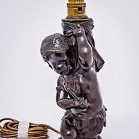 19th Century Bronze Lamp (5 of 5)