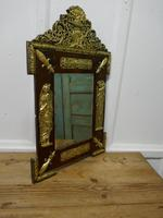 Large Napoleon III French Brass and Fruitwood Mirror (5 of 7)