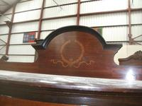 Bow Front Inlaid Mahogany Glazed Cabinet on Tapered Legs (2 of 6)