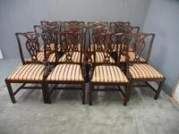 Set of 12 Georgian Style Mahogany Dining Chairs (2 of 12)