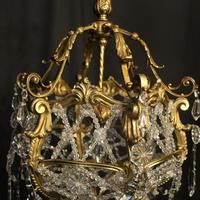 French Gilded Bronze Antique Chandelier (6 of 10)