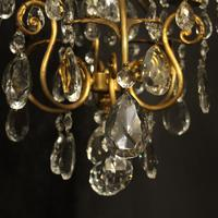 French Gilded Birdcage 4 Light Antique Chandelier (5 of 10)