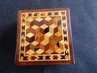 Tunbridgeware Puzzle Box with Tanagram Puzzle