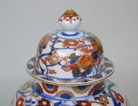 Good Pair of 19th Century Imari Porcelain Lidded Vases on Stands (7 of 10)