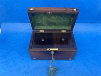 William IV Rosewood Twin Section Tea Caddy with Mother of Pearl Inlay (7 of 14)