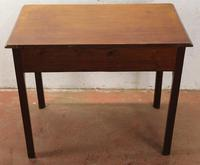 1880's Mahogany Side Table with Drawer (4 of 4)