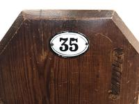 Antique Pitch Pine Church Pew with Enamel Number 35 (5 of 12)