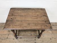 Antique Oak Side Table (m-2295) (2 of 12)