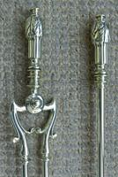 Quality Victorian Brass Fire Irons Companion Set Tongs Poker Shovel c.1895 Set 23 (4 of 9)