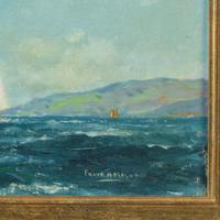 Pair of Oil Paintings of Clyde One Design Yachts Racing by Frank Henry Mason (6 of 12)