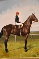 """Oil Painting Pair by Walter Vernon """"Racehorse Scenes"""" (9 of 11)"""