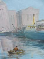 Oil on board seascape Shoreham Power Station Listed Artist Max Parsons ARCA (3 of 10)