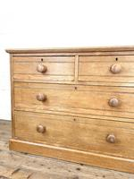 Antique Pale Oak Chest of Drawers (5 of 10)