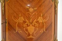 Antique French Inlaid  Marquetry Marble Top Cabinet (9 of 10)