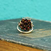 The Vintage Stepped Garnet Cluster Ring (2 of 5)