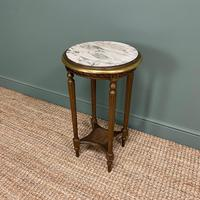 Small Country House Gilt Antique Occasional Table (5 of 6)