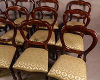 Set of 12 Victorian Mahogany Balloon Back Dining Chairs (3 of 10)