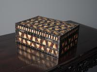 Anglo-Indian Ebony & Porcupine Quill Jewellery Box (12 of 12)