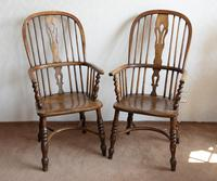 4 Matched High Back Windsor Chairs in Ash (2 of 4)