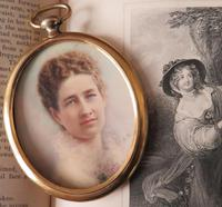 Edwardian Miniature Portrait 1907 by Mrs Gibbs of Boston USA (4 of 5)