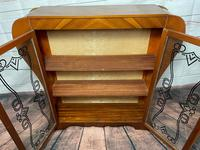 Art Deco Walnut Curved Bookcase Display Storage Cabinet (20 of 29)