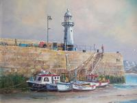 Wyn Appleford Oil on Canvas of St Ives Harbour, Cornwall (5 of 5)