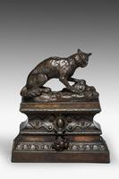 Pair of Bronze Foxes (2 of 4)
