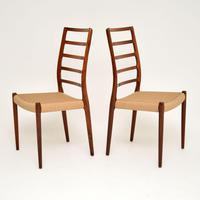 Pair of Danish Rosewood 82 Chairs by Niels Moller Vintage 1960's (7 of 13)