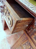 Country Oak Lions Head Pedestal Desk 1860 (4 of 12)
