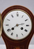 French Belle Epoque Mahogany Mantel Clock by Samuel Marti (3 of 8)