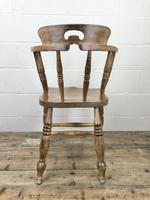 Antique Beech Spindle Back Smoker's Bow Chair (7 of 8)