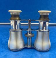 Victorian Silver Plated Mother of Pearl Opera Glasses (5 of 8)