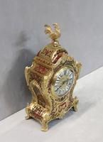 French Napoleon III Boulle Mantel Clock by Japy Freres (8 of 11)