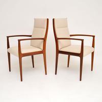1960's Pair of Danish Vintage Rosewood Carver Armchairs (2 of 9)