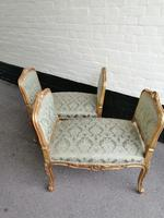 Superb quality pair of 19th century French giltwood window seats (8 of 8)