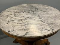 Large French Empire Marble Top Gueridon Table (8 of 8)