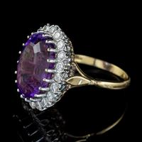 Vintage Amethyst Diamond Cocktail Ring 18ct Gold 12ct Amethyst Circa 1980 (7 of 8)
