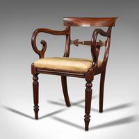 Antique Elbow Chair, English, Mahogany, Carver, Drop-in Seat, Regency c.1820 (3 of 12)