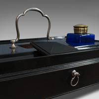 Antique Double Inkwell, English, Mahogany, Desk Tidy, Aesthetic Period, 1880 (7 of 10)