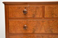 Antique Victorian Burr Walnut Chest of Drawers (9 of 9)