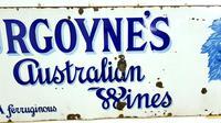 Rare Late Victorian Enamel Burgoynes Australian Wine Sign Extremely Large (5 of 10)