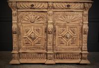 Carved Raw Oak Glazed Bookcase (13 of 21)