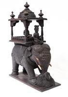 Carved Burmese Elephant Statue Antique Burma c.1890 (3 of 8)