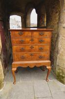 George II Walnut Chest on Stand