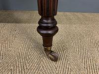 Victorian Mahogany 2 Drawer Reeded Leg Writing Table (5 of 15)